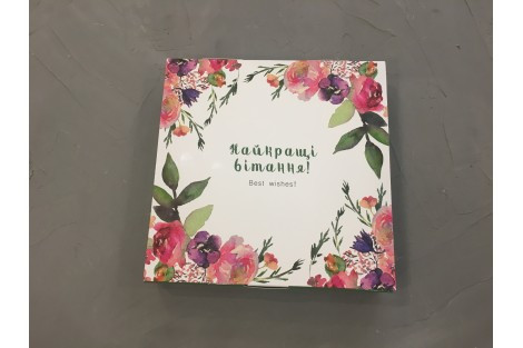 Коробка для конфет на 16 шт (18,5*18,5 h3 cm) Галетте -06266
