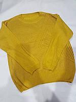 Свитшот женский тонкая вязка. Универсальный рр норма. Желтый, фото 1