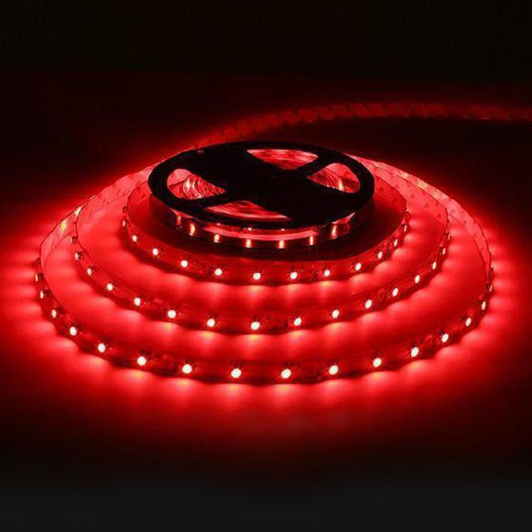 Светодиодная LED лента 3528 красная 5 м блок питания пылезащита влагозащита пятиметровая с блоком питания