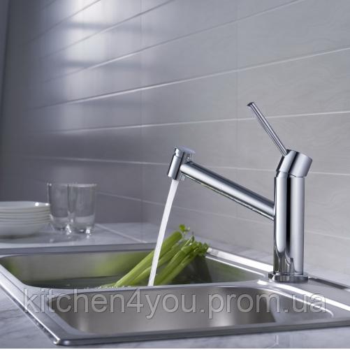 Кухонний змішувач Blue Water Casano хром з висувним душем