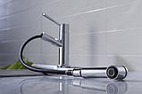 Кухонний змішувач Blue Water Casano хром з висувним душем, фото 6