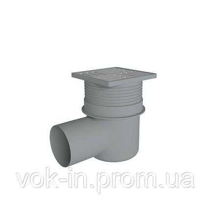Ani Plast Трап угловой, регулируемый,  выпуск 110 мм с нерж. решеткой 15x15 см, фото 2