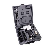 """Гайковерт пневматический 1/2"""" в чемодане + набор головок 9-27 мм, 17 ед INTERTOOL PT-1101"""