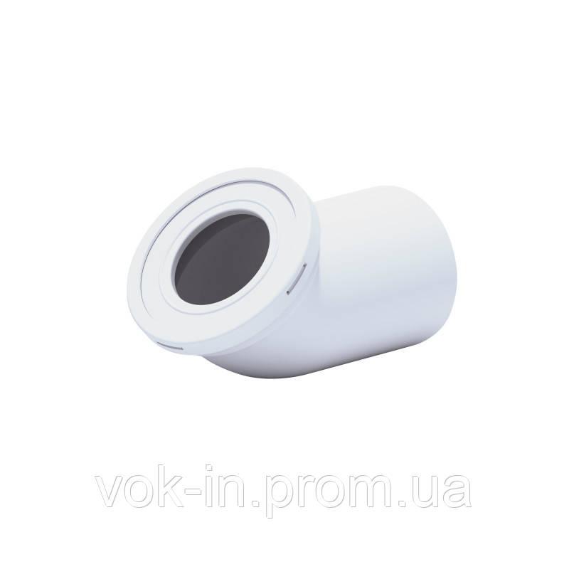 Ani Plast Колено 22° для унитаза, выпуск 115 мм