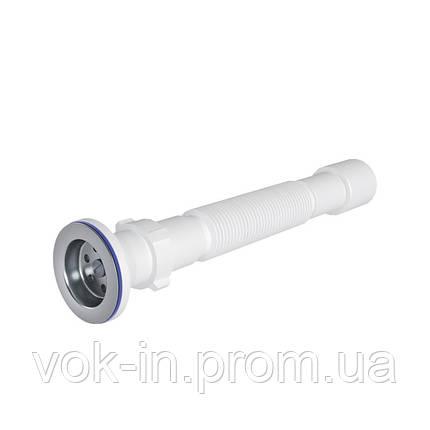 Ani Plast Гофросифон 70 мм, выход 40-50 мм, длина 450-840 мм, фото 2