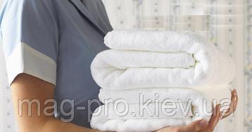 Махровое полотенце плотность 550гр./м2 - белое Пакистан, фото 2