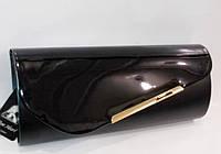 Женский праздничный клатч 016А черный лак купить праздничный клатч, фото 1