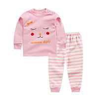"Пижама для девочки марки ""JUSTY"" от 6 мес до 4-х лет. ХЛОПОК!"