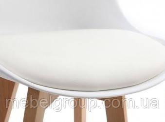 Стілець полубарный Еліос з м'якою сидушкою білий, фото 2