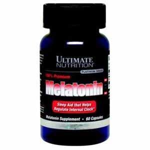 Регулятор цикла сна 100% Premium Melatonin (60 капс.) Ultimate Nutrition