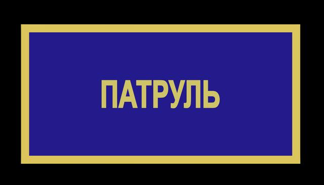 Бейдж ЗСУ патруль
