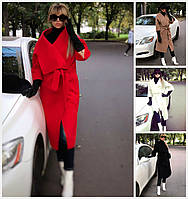 Стильное кашемировое пальто рукава 3/4 17714, фото 1