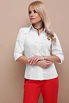Рубашка белая с коротким рукавом 3/4  женская 42-50, фото 2