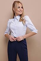 Рубашка белая с коротким рукавом 3/4  женская 42-50, фото 3