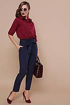 Шикарная бордовая рубашка женская 42 -50, фото 3