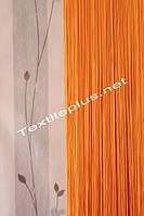 Шторы нити Кисея однотонные - оранжевый