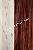 Штори нитки Серпанок однотонні - шоколадний, фото 1