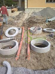Септик бетонный 8 куб.м. + дренажное поле 11