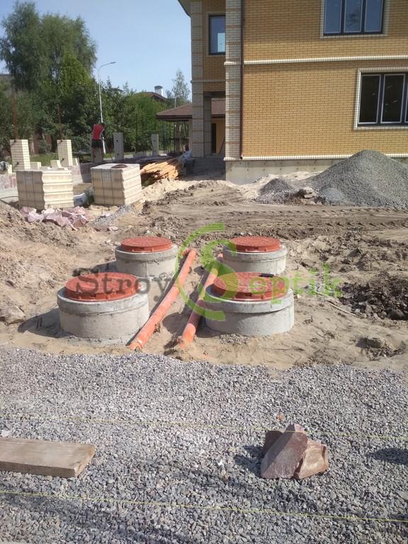 Септик бетонный 8 куб.м. + дренажное поле