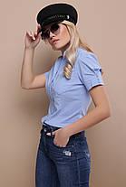 Легкая классическая блуза голубая 42-48, фото 3