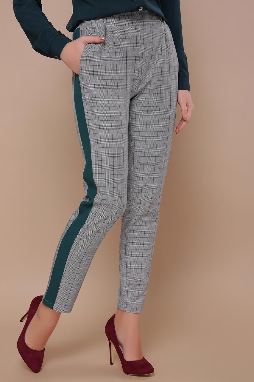 Модные женские брюки с полосой сбоку 42-48