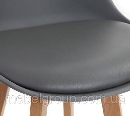 Стул полубарный Элиос с мягкой сидушкой серый, фото 2