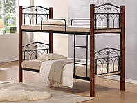 Кровать Миранда двухъярусная (каштан)