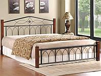 Кровать Миранда двуспальная (каштан)