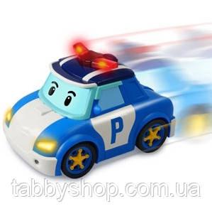 """Машинка Поли с жезлом Robocar POLI Silverlit """"Едь за мной"""", 25 см"""