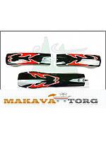 Крылья велосипедные пластиковые МТВ с рисунком (Тайвань) 3301-RD.