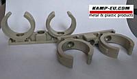 Крепление трубы 32 мм двойное пластик ( Хомут ) , фото 1