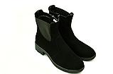 Ботинки челси женские натуральная замша демисезонные и зимние от производителя KARMEN 233016, фото 3