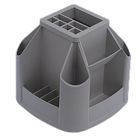 Подставка пластиковая канцелярская вращающаяся без наполнения, серый 81032
