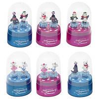 Музкальная коробка goki 13198g-4 Пингвины розовая