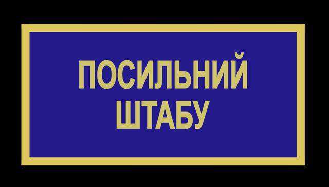 Бейдж ЗСУ посильний штабу