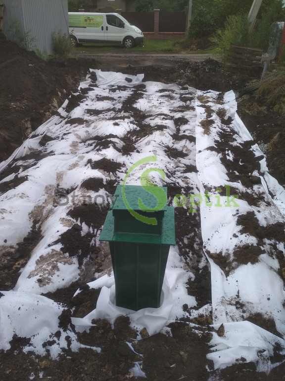 Септик бетонный + емкость под воду + ливневая канализация