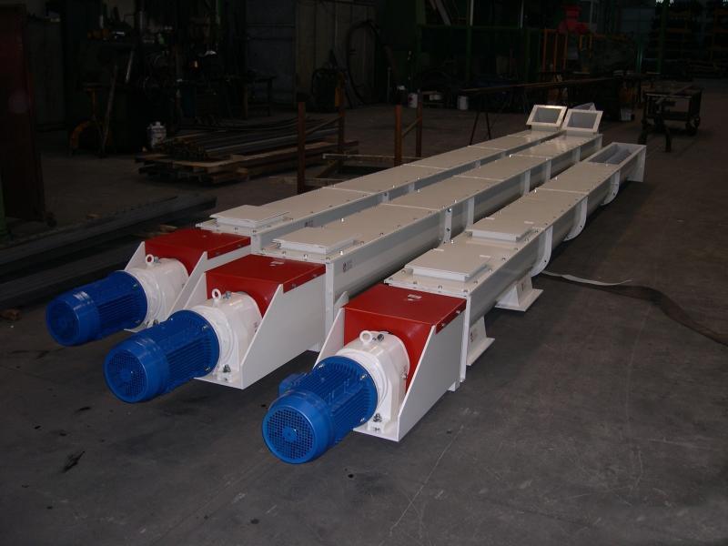 Шнек в лотке Ø 250 ММ длиной 8000 мм