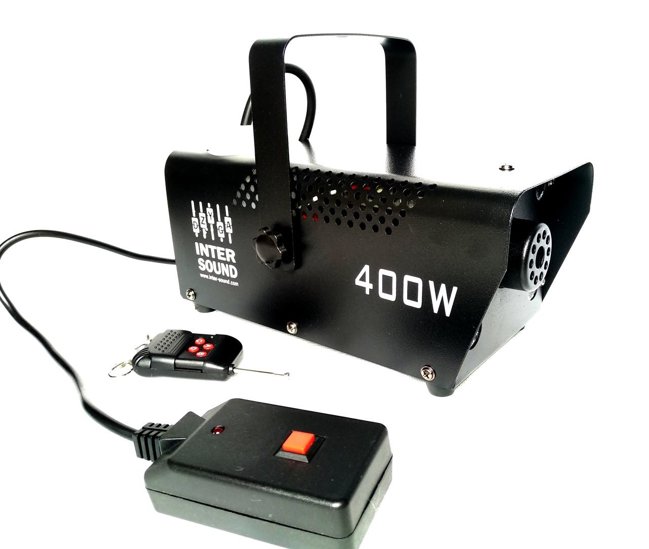 Дым машина (генератор дыма) 400 Вт с подсветкой и управлением на проводном пульте