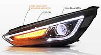 Передние фары LED тюнинг оптика Ford Focus 3 ксенон (15-18)