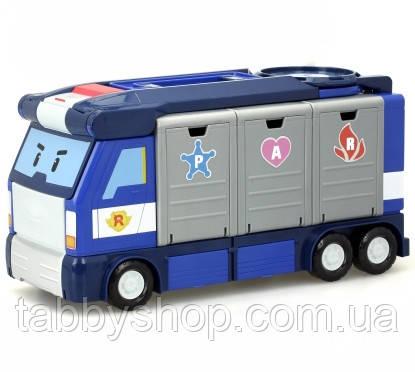 Мобильная штаб-квартира с контейнерами Robocar POLI Silverlit (без машинок)