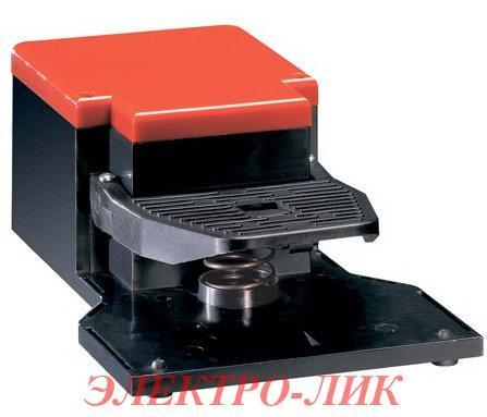 Ножний вимикач KG1 10 L11 пластик, з блокуванням натискання, з затрим. перемикання