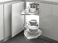 Механізм Combi`S в кутовий модуль 900 Inoxa Ellite 845BEY/DX правий хром/білий (2 полиці)