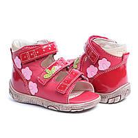 Memo Dino красные - Ортопедические босоножки для детей, фото 1