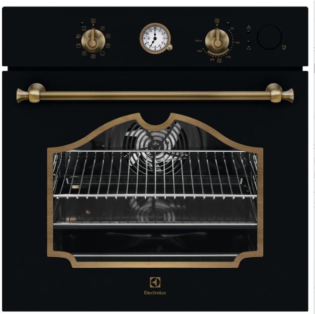 Встраиваемая духовка с функцией паровой печи  Electrolux EOB6220AOR  цвет - матовый черный