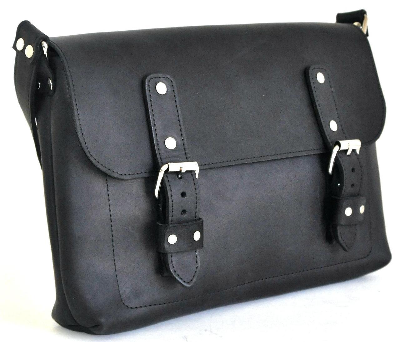 Женская кожаная сумка Avitoo B642, черный