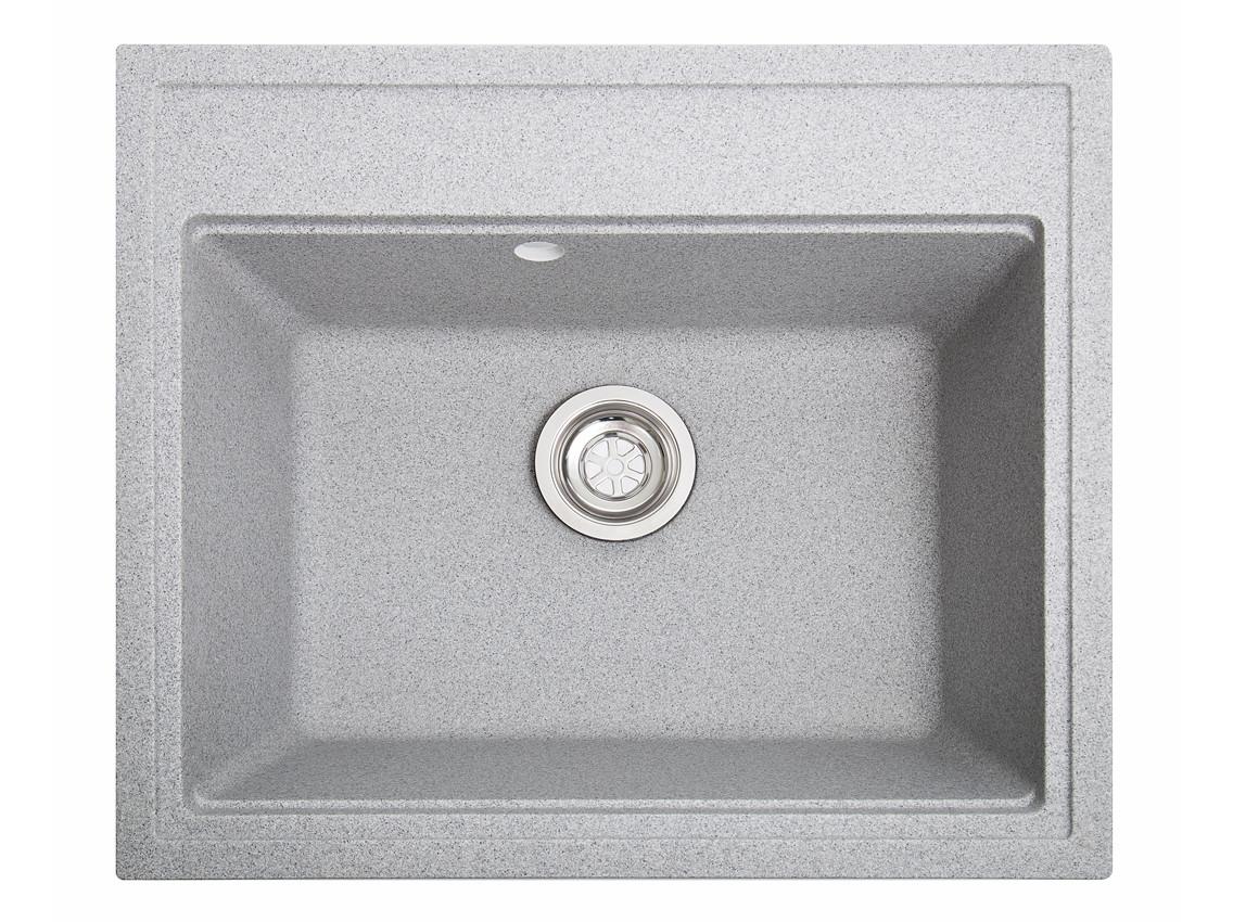 Мойка искусственный камень Solid ГРОСС 600x520 серый гранит