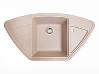 Мойка искусственный камень Solid КРАФТ 980x510 розовый песок , фото 1