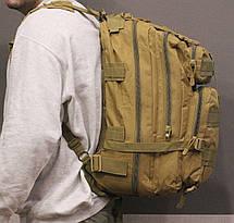 Тактический (городской) рюкзак Oxford 600D с системой M.O.L.L.E на 40 литров Coyote (ta40-coyote), фото 2