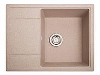 Мойка искусственный камень Solid ОПТИМА 650x510 розовый песок, фото 1