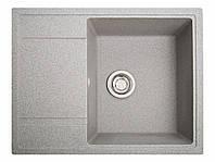 Мойка искусственный камень Solid ОПТИМА 650x510 серый гранит